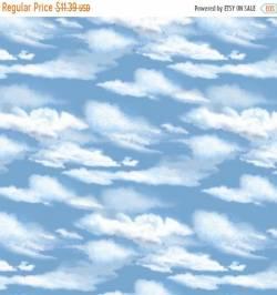Patchworkstoff Stoff Quilt Roaming Wild Wolken Landschaft
