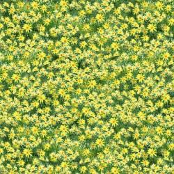 Patchworkstoff Stoff Quilt Roaming Wild gelbe Blumen auf grün 1662 30175-758