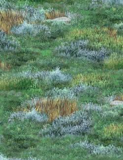 Patchworkstoff Stoff Quilt Roaming Wild Gras Steppe Landschaft WP 1662 30171 795