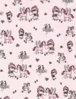 Patchworkstoff Stoff Quilt Kidz Pet Unicorn / Haustier Einhorn Kinderstoff m. Glitzer CM6487
