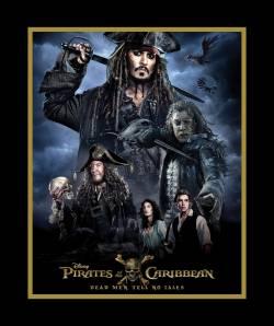 Patchworkstoff Quilt Stoff Disney Pirates of the Caribbean Panel Johnny Depp