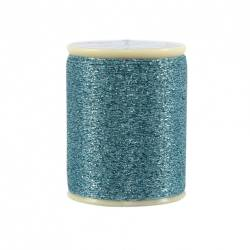 Razzle Dazzle Polyester Metallic Thread 8wt 110yds Blue Topaz