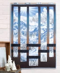 Materialpackung Wandquilt *Frostige Aussicht* ca. 76 x 109cm Winterbild