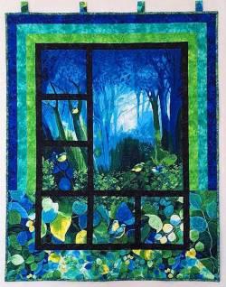 Materialpackung Wandquilt *Elfenwald* ca. 87 x 112 cm Fantasie Regenwald Elfen