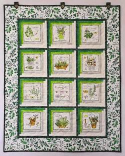 Materialpackung Wandquilt *Kräuter* ca. 83 x 104 cm Rosmarin Basilikum Schnittlauch MP21-0132