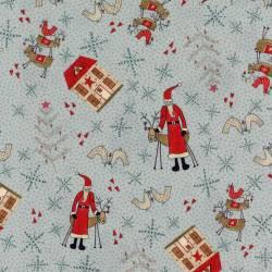 Patchworkstoff Quilt Stoff Rentier Weihnachten grau Skandinavien 706908L-70
