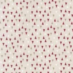 Patchworkstoff Quilt Stoff Herzen Weihnachten cappucino rot grau 706911L-11