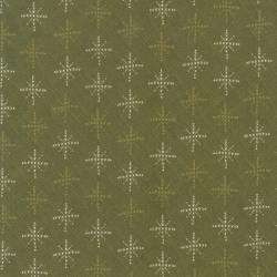 Patchworkstoff Quilt Stoff Schneeflocken grün Skandinavien 706912L-60