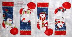 Patchworkstoff Stoff Panel *Chilly Silly Snowmates* Stockings Stiefel