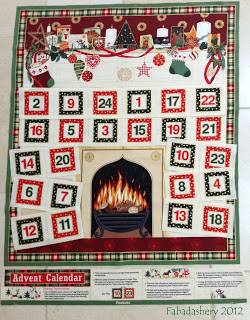 Patchworkstoff Quilt Stoff *Country Christmas* Panel Festlicher Adventskalender  MAK107