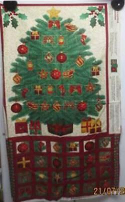 Patchworkstoff Stoff Quilt Panel *Classic Tree* Adventskalender