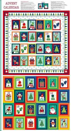 Patchworkstoff Stoff Panel *Novelty Christmas* Adventskalender