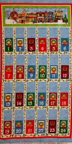 Patchworkstoff Stoff Panel * All Around the Town * Adventskalender AATT
