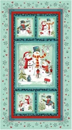Patchworkstoff Weihnachten Panel Frosty n Fun