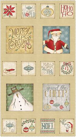 Patchworkstoff Weihnachten Panel Christmas Whimsy