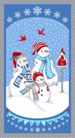 Patchworkstoff Weihnachten Panel Let It Snow