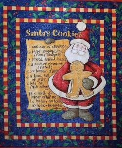 Patchworkstoff Weihnachten Panel Santas Cookies