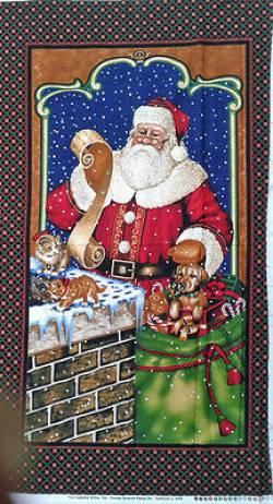 Patchworkstoff Weihnachten Panel Santa Delivers