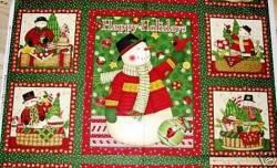 Patchworkstoff Weihnachten Panel Christmas Baskets