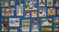 Patchworkstoff Weihnachten Panel Snowfolks Tea Party