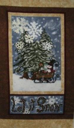 Patchworkstoff Weihnachten Panel Let It Snow Flanell