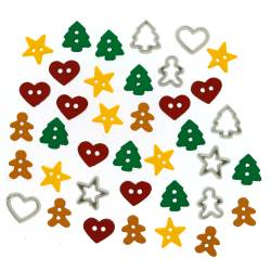 Knopf Packung `ITTY BITTY CUT OUT COOKIES`