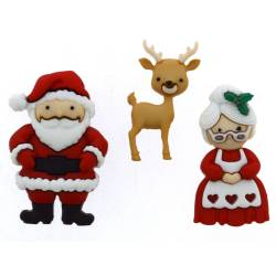 Knopf Packung `MR AND MRS CLAUS`