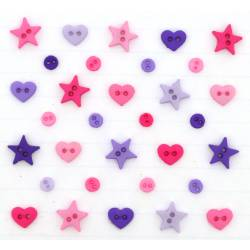 Knopf Packung `MM SHAPES PRINCESS MIX`