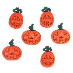 Knopf Packung `Glitter Pumpkins`