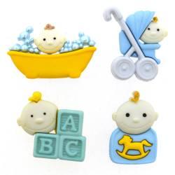 Knopf Packung `Baby Fun Boy`