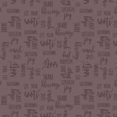 Patchworkstoff Quilt Stoff Multi Rosette Beistoff Lavender Words Schrift