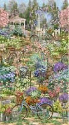 Patchworkstoff Quilt Panel Stoff Garden