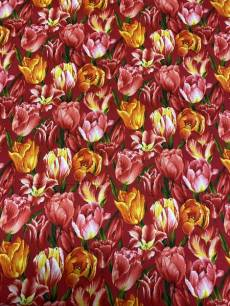 Patchworkstoff Stoff Fruehling *Bouquet of Beauties Style* Tulpenwiese