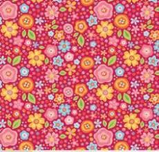 Patchworkstoff Quilt Stoff *My Sunshine* Blumen auf pink