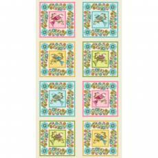Patchworkstoff, Stoff, Quilt *Lori´s Art Garden* 4 Panels,gesamt 60x110cm