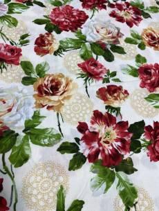Patchworkstoff Stoff Quilt  *Sevenberry* Rosen, rose Hintergrund