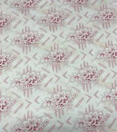 Patchworkstoff Stoff Quilt *Mississippi Collection* Heller Stoff mit Rosen Bouquet