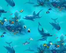 Patchworkstoff Quilt Stoff *Paradise* Unterwasserwelt