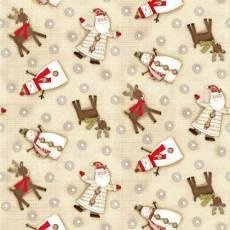 Patchworkstoff Quilt Stoff *Holiday Stiches* Rentiere, Weihnachtsmänner