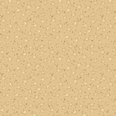 Patchworkstoff Quilt Sterne auf Creme/Gold