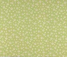 Patchworkstoff Quilt *Home for Christmas* Schneeflocken auf gedecktem grünen Hintergrund