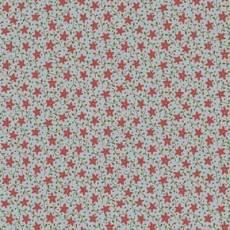 Patchworkstoff Quilt *Peace on Earth* Rote Sternchen mit Ranken auf grauem Hintergrund