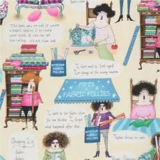 Patchworkstoff Beistoff Fabric Follies Design Quiltfrau Nähfrau