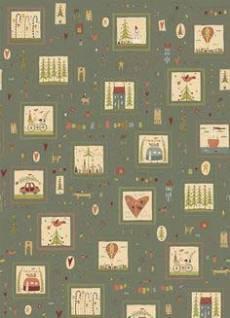Patchworkstoff Quilt *Home for Christmas* Weihnachtsmotive in Quadraten auf grauem Hintergrund