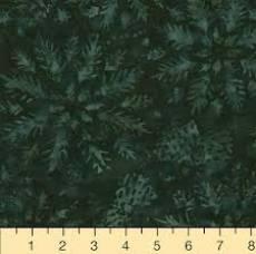 Patchworkstoff Quilt Batikstoff *Hunter* Dunkelgrün mit Blumenmuster