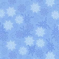 Patchworkstoff Quilt Weihnachtsstoff *Rain* Hellblau mit Schneeflocken