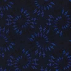 Patchworkstoff Quilt Weihnachtsstoff *Ocean* Dunkelblauer Stoff mit Wirbel