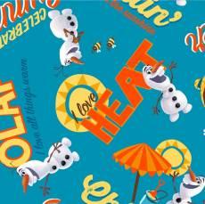Patchworkstoff Quilt Beistoff *Olaf chillin* Olaf, der lustige Schneemann, Eiskönigin, Frozen