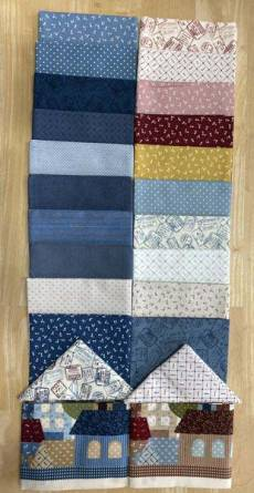 Patchworkstoff Quilt Stoff Panel *American Country 19th* Panel Cut & Fat Quarters Paket 4550080020468