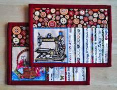 Materialpackung `Mug Rug (4) *Sew-Fun* je ca. 18 x 14 cm